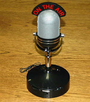 Microphone On-the-air radio