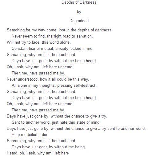Degradead lyrics