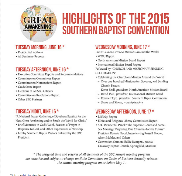 Sbc 2015 events