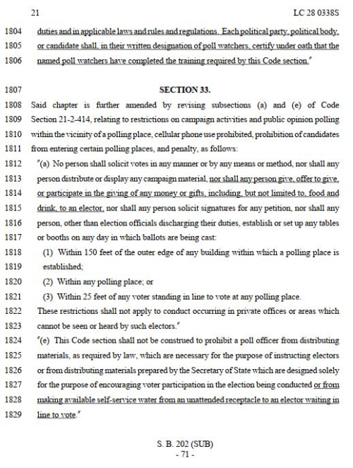 Georgia amended voter law